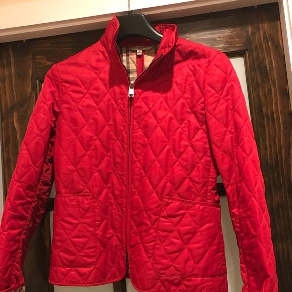 34% off Burberry Jackets & Blazers - Red Burberry Quilted Jacket ... : red burberry quilted jacket - Adamdwight.com